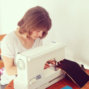 Ramena sewing the side pockets